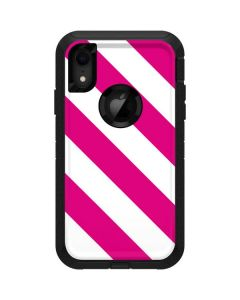 Pink and White Geometric Stripes Otterbox Defender iPhone Skin