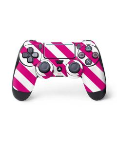 Pink and White Geometric Stripes PS4 Pro/Slim Controller Skin