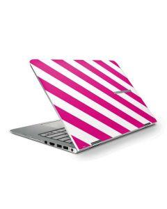 Pink and White Geometric Stripes HP Stream Skin