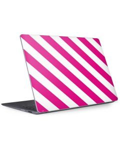 Pink and White Geometric Stripes Surface Laptop 2 Skin