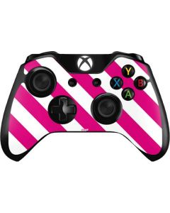 Pink and White Geometric Stripes Xbox One Controller Skin