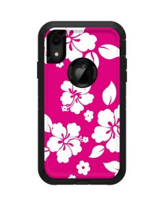 Pink and White Otterbox Defender iPhone Skin