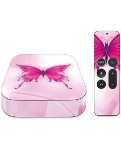 Pink Butterfly Apple TV Skin