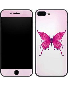 Pink Butterfly iPhone 7 Plus Skin