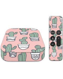 Pink Cactus Apple TV Skin