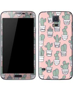 Pink Cactus Galaxy S5 Skin