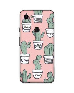 Pink Cactus Google Pixel 3a Skin