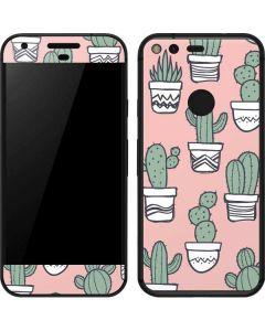 Pink Cactus Google Pixel Skin