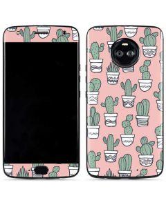 Pink Cactus Moto X4 Skin