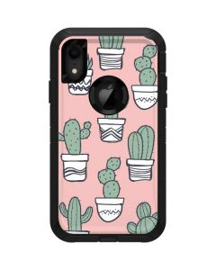 Pink Cactus Otterbox Defender iPhone Skin