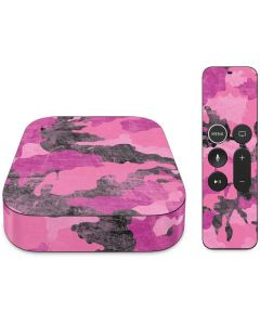 Pink Camouflage Apple TV Skin