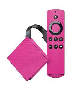 Pink Carbon Fiber Amazon Fire TV Skin