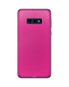 Pink Carbon Fiber Galaxy S10e Skin