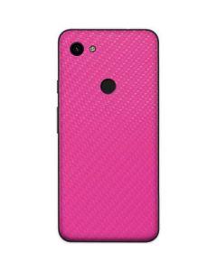 Pink Carbon Fiber Google Pixel 3a Skin