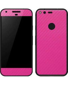 Pink Carbon Fiber Google Pixel Skin