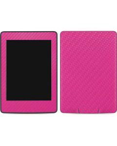 Pink Carbon Fiber Amazon Kindle Skin