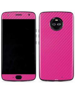 Pink Carbon Fiber Moto X4 Skin