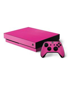 Pink Carbon Fiber Xbox One X Bundle Skin