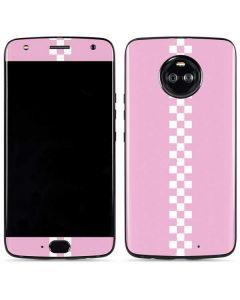 Pink Checkerboard Moto X4 Skin