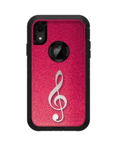 Pink Glitter Music Note Otterbox Defender iPhone Skin