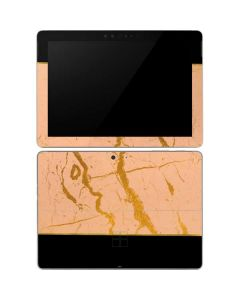 Pink Gold and Black Marble Surface Go Skin