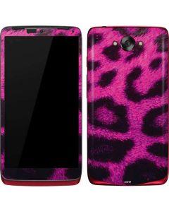 Pink Leopard Spots Motorola Droid Skin