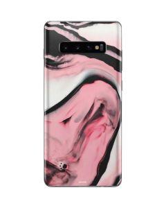 Pink Marble Ink Galaxy S10 Plus Skin