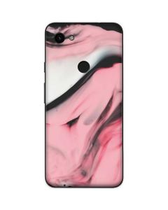 Pink Marble Ink Google Pixel 3a Skin