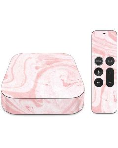 Pink Marbling Apple TV Skin