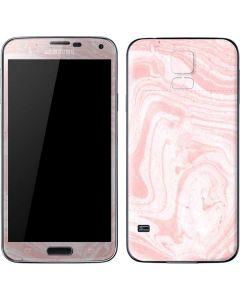 Pink Marbling Galaxy S5 Skin