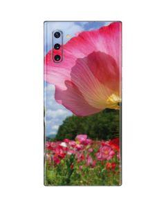 Pink Poppy Petals Galaxy Note 10 Skin