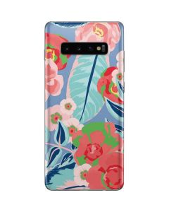 Pink Spring Flowers Galaxy S10 Plus Skin