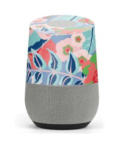 Pink Spring Flowers Google Home Skin