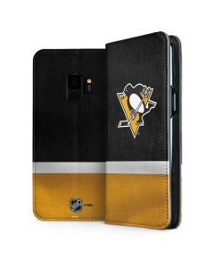 Pittsburgh Penguins Jersey Galaxy S9 Folio Case