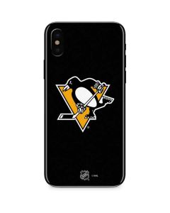 Pittsburgh Penguins Solid Background iPhone XS Skin