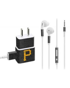Pittsburgh Pirates - Solid Distressed Phone Charger Skin