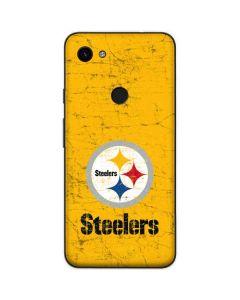 Pittsburgh Steelers - Alternate Distressed Google Pixel 3a Skin