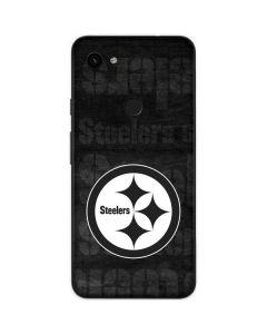 Pittsburgh Steelers Black & White Google Pixel 3a Skin