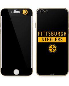 Pittsburgh Steelers Black Performance Series iPhone 6/6s Skin