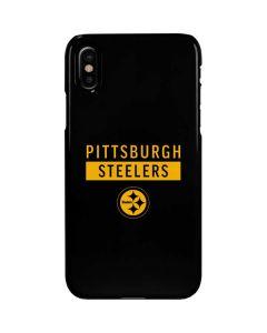 Pittsburgh Steelers Black Performance Series iPhone XS Max Lite Case
