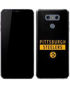 Pittsburgh Steelers Black Performance Series LG G6 Skin