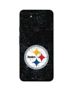 Pittsburgh Steelers Distressed Google Pixel 3a Skin