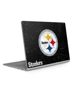 Pittsburgh Steelers Distressed Surface Book 2 13.5in Skin