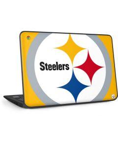 Pittsburgh Steelers Large Logo HP Chromebook Skin