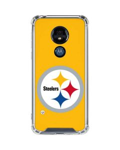 Pittsburgh Steelers Large Logo Moto G7 Power Clear Case