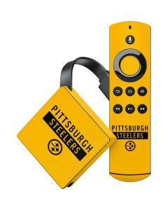 Pittsburgh Steelers Yellow Performance Series Amazon Fire TV Skin