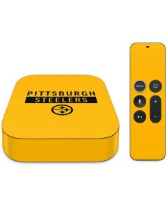 Pittsburgh Steelers Yellow Performance Series Apple TV Skin
