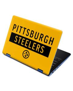 Pittsburgh Steelers Yellow Performance Series Aspire R11 11.6in Skin