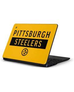 Pittsburgh Steelers Yellow Performance Series Samsung Chromebook Skin