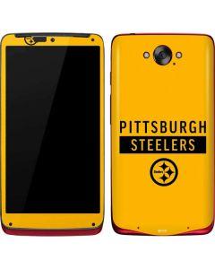 Pittsburgh Steelers Yellow Performance Series Motorola Droid Skin